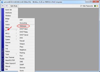 چگونه برروی اینترفیس های میکروتیک IP Address تنظیم کنیم