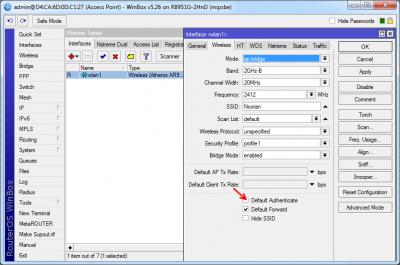 چگونه Default Authenticate برروی AP تنظیم کنید